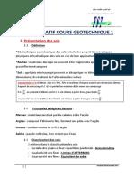 1.1 Recapitulatif Cours Geotechnique 1