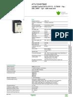 Schneider Electric ATV12H075M2 Datasheet