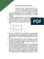 3 Ejercicios de Termodinámica 2016.1
