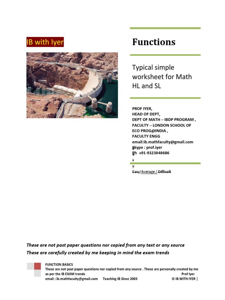 Workbooks » Ib Math Hl Worksheets - Free Printable Worksheets for ...