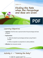Finding the Rate When the Percentage and Base