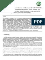 Aplicación de Un Diseño Experimental en La Remoción de Turbiedad Del Rio Rímac Mediante La Coagulación y Floculación Usando Goma de Tara.