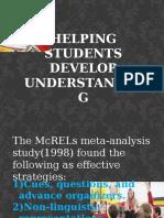 Helping Students Develop Understanding