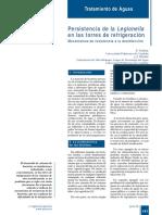 391-141 Persistencia de La Legionella en Las Torres de Refrigeración