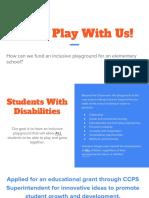 inclusive playground pbl