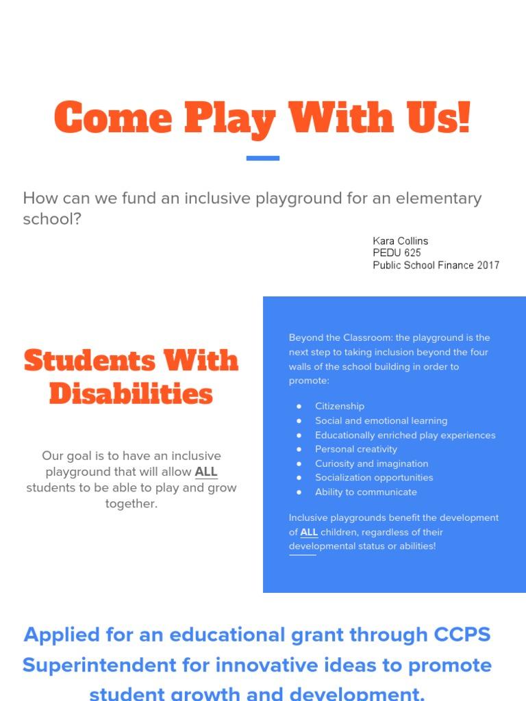 inclusive playground pbl playground inclusion education