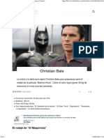 Christian Bale en 'El Maquinista'_ de 54 Kg a 100 Kg en 5 Meses
