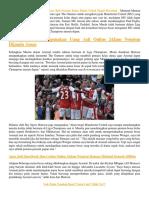 Arsenal Harus Beli Pemain Kelas Dunia Untuk Dapat Bersaing