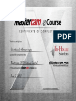 Mastercam 2018 Getting Started