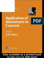 (RILEM Report 10) Paillère, A. M-Application of Admixtures in Concrete _ State-Of-The Art Report-E & FN Spon (1995)