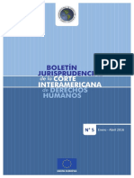 Boletín Jurisprudencial de la Corte Interamericana de Derechos Humanos N° 5 - enero- abril de 2015