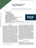 Métodos Estadísticos para Química Analitica