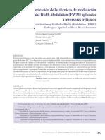 Caracterización de las técnicas de modulación Pulse Width Modulation (PWM) aplicadas a inversores trifásicos