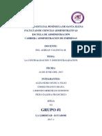 Tarea 4-La Centralización y Descentralización
