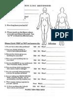 Skin Clinic Patient Questionnaire