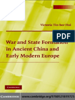 Victoria Tin-bor Hui-War and State Formation in Ancient China and Early Modern Europe (2005)