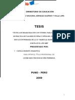 Tecnica de Dramatizacion Con Titeres Para Mejorar El Nivel de Practica de Valores en Ninas y Ninos