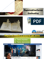 1 Superestructuras textuales