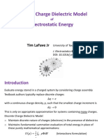 Discrete Charge Dielectric Model of Electrostatic Energy