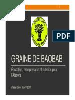 Graine de Baobab - Présentation