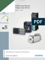 E86060-K5531-A101-A1-7600_SINAMICS & Motors for Singe Axis Drives_Catalogue D31_2012