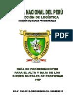 Procedimiento Para Altas y Bajas de Bienes PNP