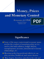 Ch12 - Money Prices Monetary Control