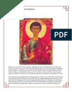 29 - The Holy Apostle Thomas