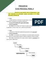 Preguntas de Derecho Procesal Penal II