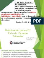 Presentación Planificación 2° Ciclo