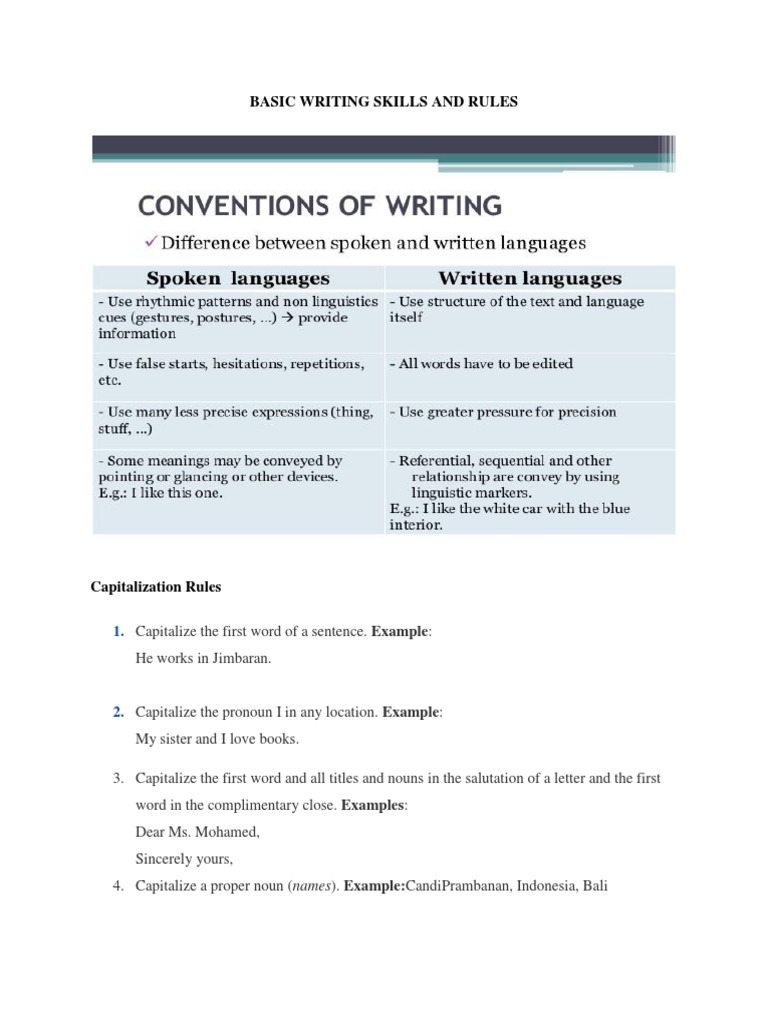 examples of referential writing