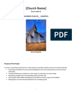 Church Business Plan Sample