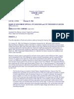 5. Board of Assessment Appeals vs. Manila Electric 10 SCRA 68 (1964)
