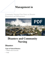 Disaster Management in Nursing