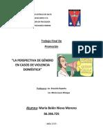 """LA PERSPECTIVA DE GÉNERO EN CASOS DE VIOLENCIA DOMÉSTICA"""