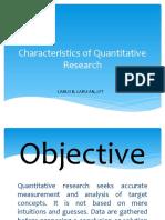Characteristics of Quantitative Research