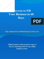 8 Secrets to Fill Your Business in 60 Days