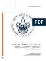 Resumen Del Procedimiento de Conciliación Ante CONDUSEF