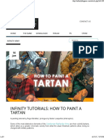 How to Paint Tartan