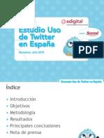 Estudio Uso Twitter En Espana - JUL10 (Adigital)