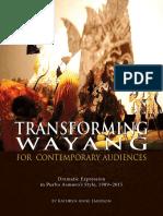 Emerson, Kathryn - Transforming Wayang for Contemporary Audiences (Asmoro 1989-2015)