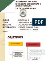 Archivos de Auditoria