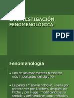 Investigacion Fenomenológica