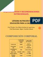 Req y REcomENDACIONES NUTRICIONALES