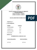 Informe Analítica Dureza Del Agua