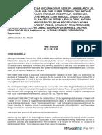 Eduardo F Hernandez Et Al vs National Power Corporation