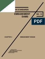USBR DesignStandardsEmbankmentDamsNo13 Chapter2 EmbankmentDesign1992a