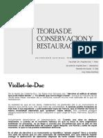 Teorias de Conservacion y Restauracion