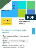 Interpretación - Sesión 4 - Interpretación hablada.pptx