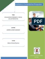Evaluacion Economica y Social de Los Proyectos
